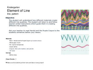 Kindergarten Element of Line line, pattern