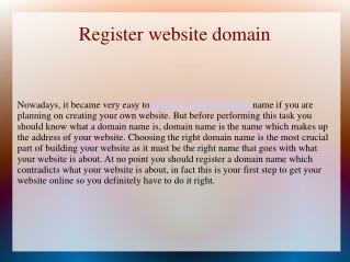 Register website domain