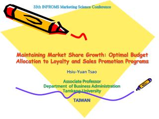 Maintaining Market Share Growth: Optimal Budget Allocation to Loyalty and Sales Promotion Programs