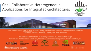 Chai: Collaborative Heterogeneous Applications for Integrated-architectures