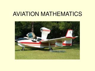 AVIATION MATHEMATICS