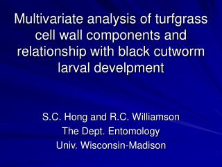 Multivariate analysis of turfgrass cell wall components and relationship with black cutworm larval develpment