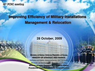 Improving Efficiency of Military Installations  Management & Relocation