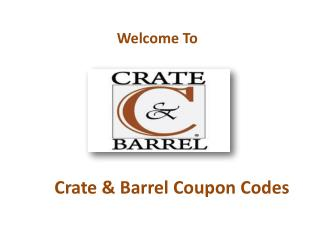 Crate & Barrel Coupon Codes