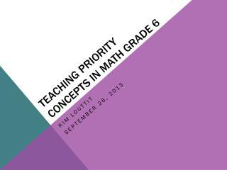 Teaching Priority Concepts in Math Grade 6