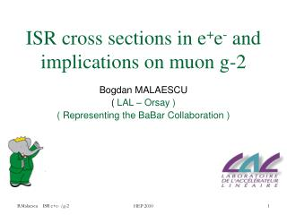 ISR cross sections in e + e -  and implications on muon g-2