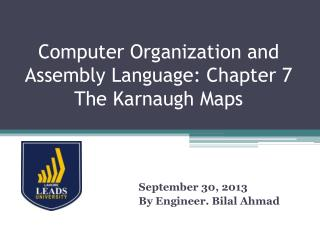 Computer Organization and Assembly Language: Chapter 7 The  Karnaugh  Maps