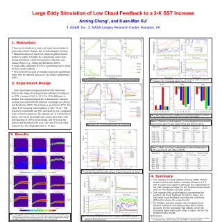 Large Eddy Simulation of Low Cloud Feedback to a 2-K SST Increase