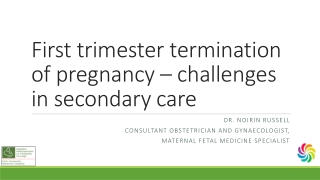 First trimester termination of pregnancy – challenges in secondary care