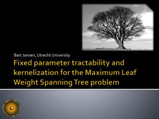Fixed parameter tractability and  kernelization  for the Maximum Leaf Weight Spanning Tree problem