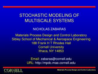 Materials Process Design and Control Laboratory