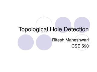 Topological Hole Detection