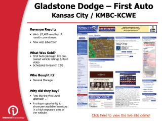 Gladstone Dodge – First Auto Kansas City / KMBC-KCWE