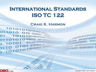 International Standards ISO TC 122