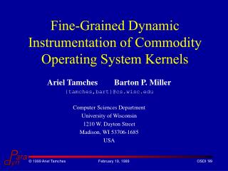 Fine-Grained Dynamic Instrumentation of Commodity Operating System Kernels