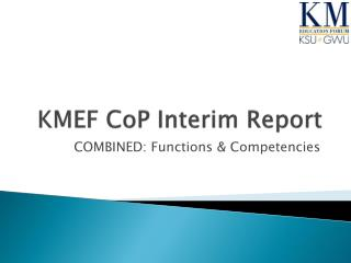 KMEF  CoP  Interim Report