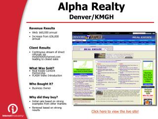 Alpha Realty Denver/KMGH