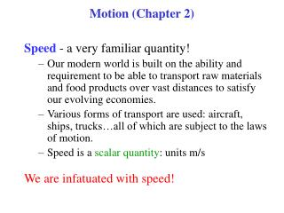 Motion (Chapter 2)