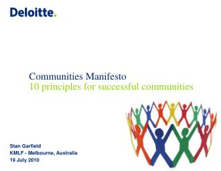 Communities Manifesto 10 principles for successful communities