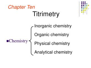 Chapter Ten Titrimetry