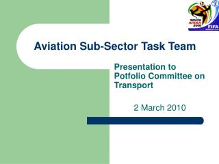 Aviation Sub-Sector Task Team