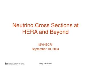 Neutrino Cross Sections at HERA and Beyond
