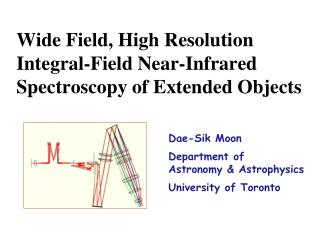 Wide Field, High Resolution Integral-Field Near-Infrared Spectroscopy of Extended Objects