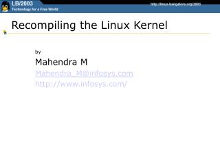 Recompiling the Linux Kernel