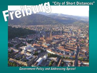 Government Policy and Addressing Sprawl