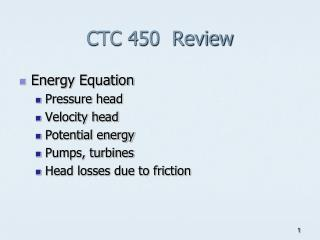 CTC 450  Review
