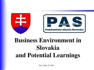 Business Environment in Slovakia  and Potential Learnings