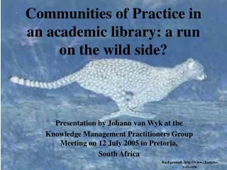 Communities of Practice in an academic library: a run on the wild side?