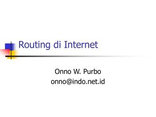 Routing di Internet