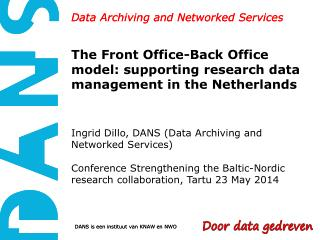 Data Archiving and Networked Services