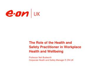 The Role of the Health and Safety Practitioner in Workplace Health and Wellbeing