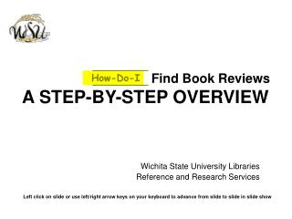Find Book Reviews A STEP-BY-STEP OVERVIEW
