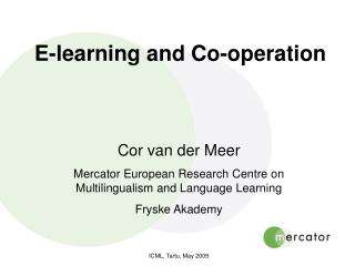 E-learning and Co-operation