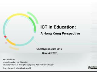 ICT in Education: A Hong Kong Perspective