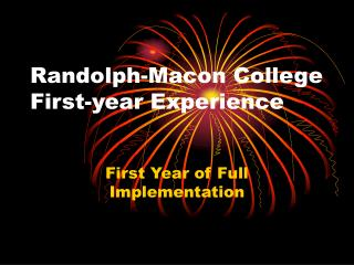 Randolph-Macon College First-year Experience