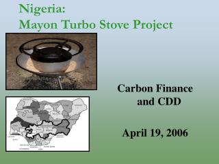 Nigeria:  Mayon Turbo Stove Project