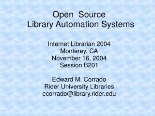 Open  Source  Library Automation Systems