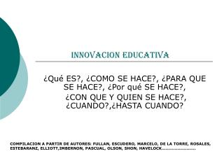 INNOVACION EDUCATIVA