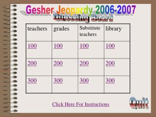 Gesher Jeopardy 2006-2007