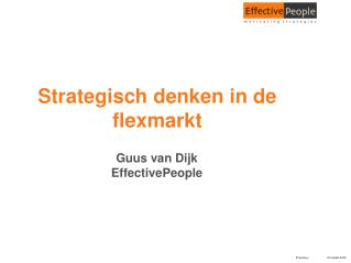 Strategisch denken in de flexmarkt