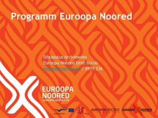 Programm Euroopa Noored