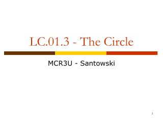 LC.01.3 - The Circle
