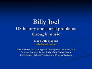 Billy Joel US history and social problems through music