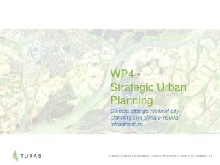 WP4 -  Strategic Urban Planning
