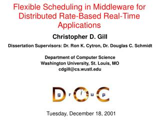 Flexible Scheduling in Middleware for Distributed Rate-Based Real-Time Applications