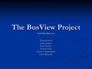 The BusView Project